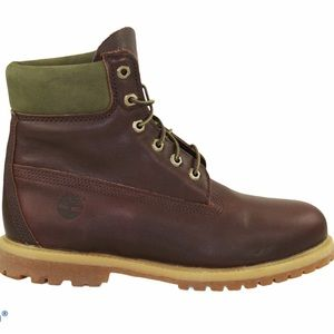 TIMBERLAND 6 Inch Leather Premium Boots Burgundy 9